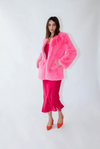 M & A CLEO FAUX COAT - FLAMINGO
