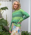 FRANKIES MELBOURNE OMBRE GREEN KNIT