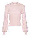 ST CLOUD BALLOON SLEEVE RID KNIT - PALE PINK