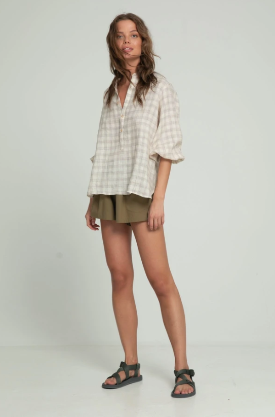 LILYA AGATHA BLOUSE - CHECK