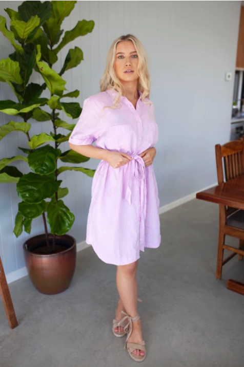 HUT EVERYDAY SHIRT DRESS - MUSK