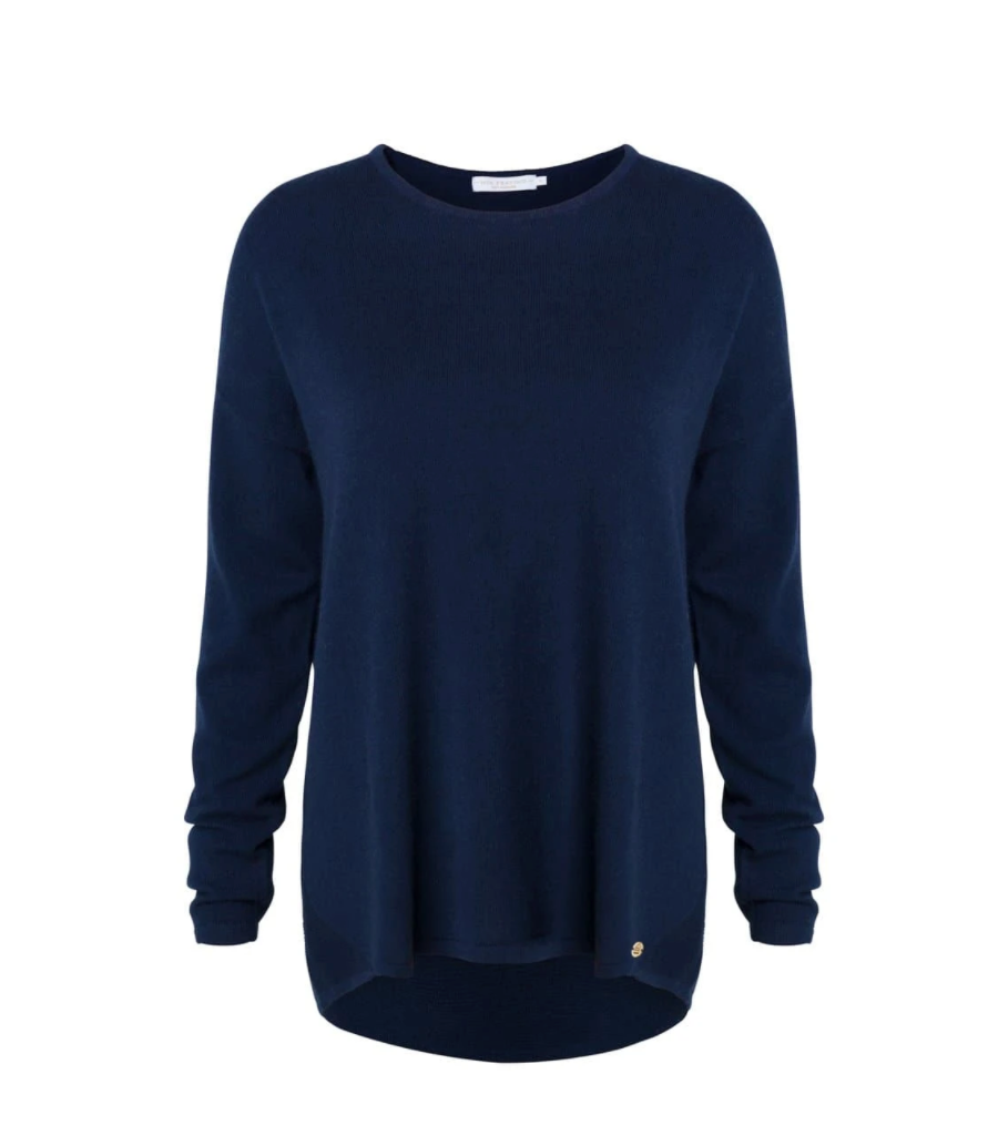 MIA FRATINO SCOOP KNIT - FRENCH NAVY