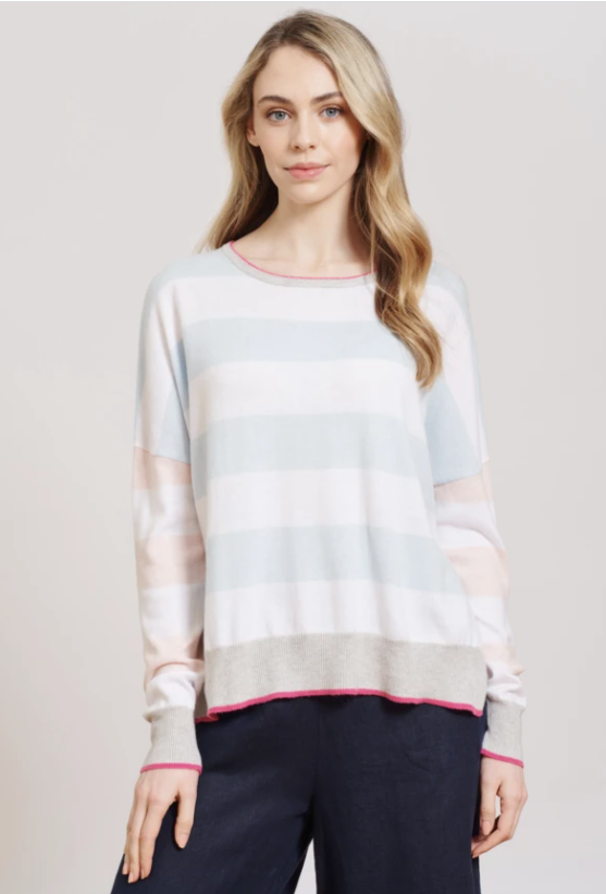 ALESSANDRA QUIRKY JILL SWEATER - PASTEL