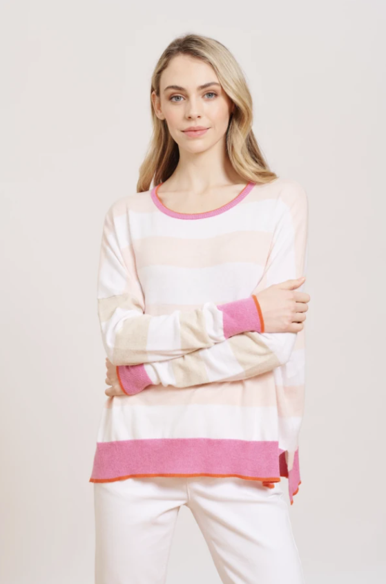 ALESSANDRA QUIRKY JILL SWEATER -PINK CALICO