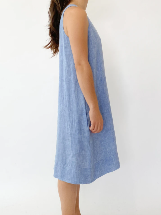 ALESSANDRA LENNA DRESS - BLUE