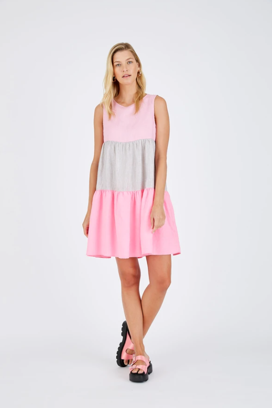 ALESSANDRA PICNIC SPLICE DRESS - LOLLY