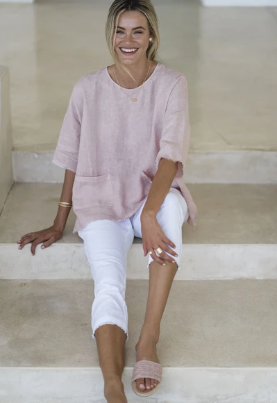 HUMIDITY TALA LINEN TOP