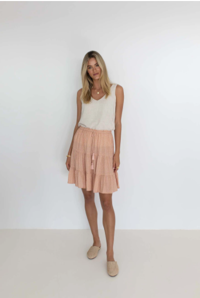 HUMIDITY HARPER SKIRT - CAMEL