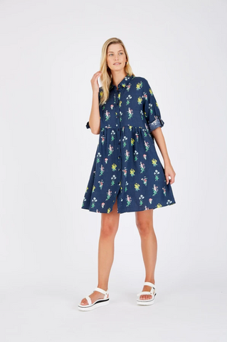 ALESSANDREA MAXINE DRESS - NAVY