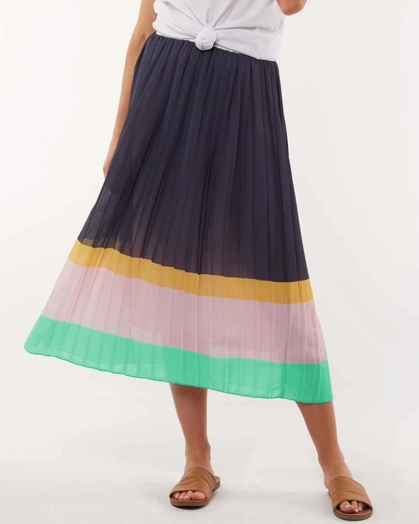 ELM LIFESTYLE NINA PLEAT SKIRT