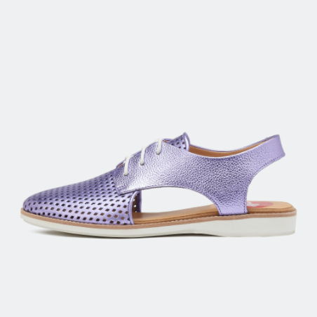 ROLLIE SLINGBACK PUNCH LILAC METALLIC