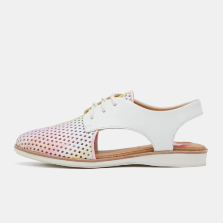 ROLLIE SLINGBACK PNCH W/COLOUR BLURRED/WHITE
