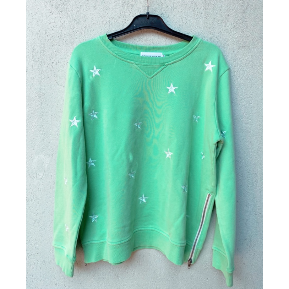 SOPHIE MORAN EMBROIDERED STAR SWEAT - GREEN