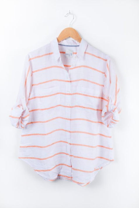 HUT CLOTHING ORANGE CHAMBRAY HORIZONTAL