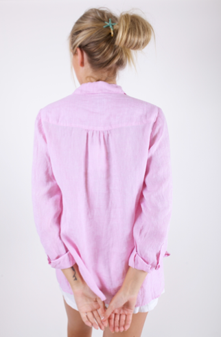 HUT CLOTHING MUSK PINK TIERED SHIRT