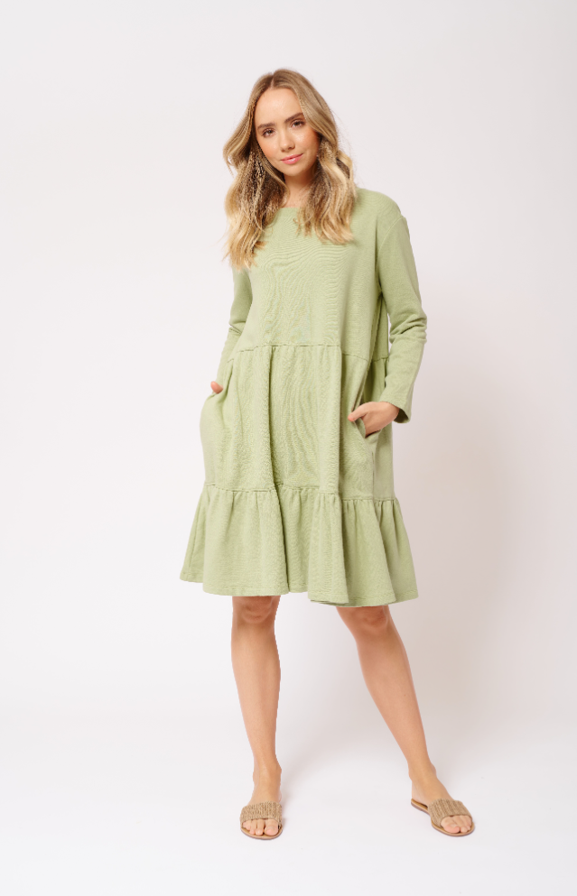 ALESSANDRA MILLIE DRESS - SAGE