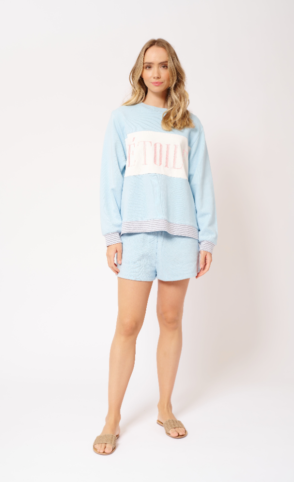 ALESSANDRA ETOILE SWEATER - BABY BLUE