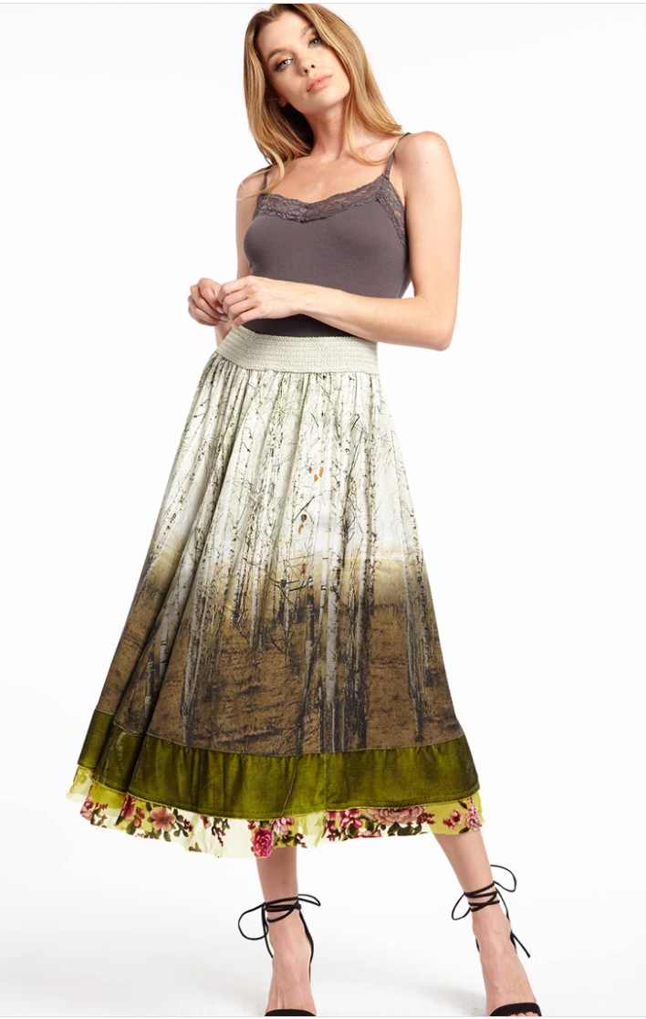 ARATTA WASHED FOREST SKIRT