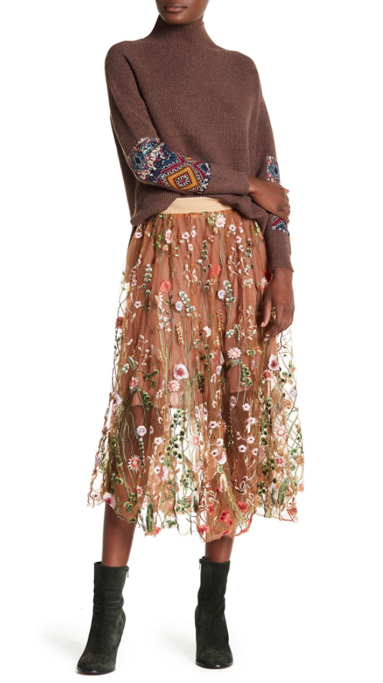 ARATTA CLAUDIA SKIRT - BURNT COPPER