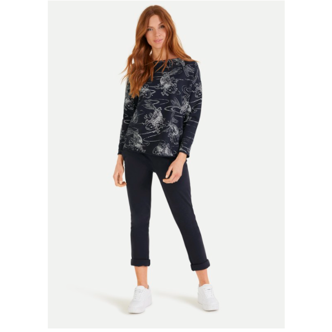 JUVIA FLEECE SWEATER KOIS - NAVY