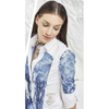 ELISA CAVALETTI BLOUSE 608 BLUE/WHITE