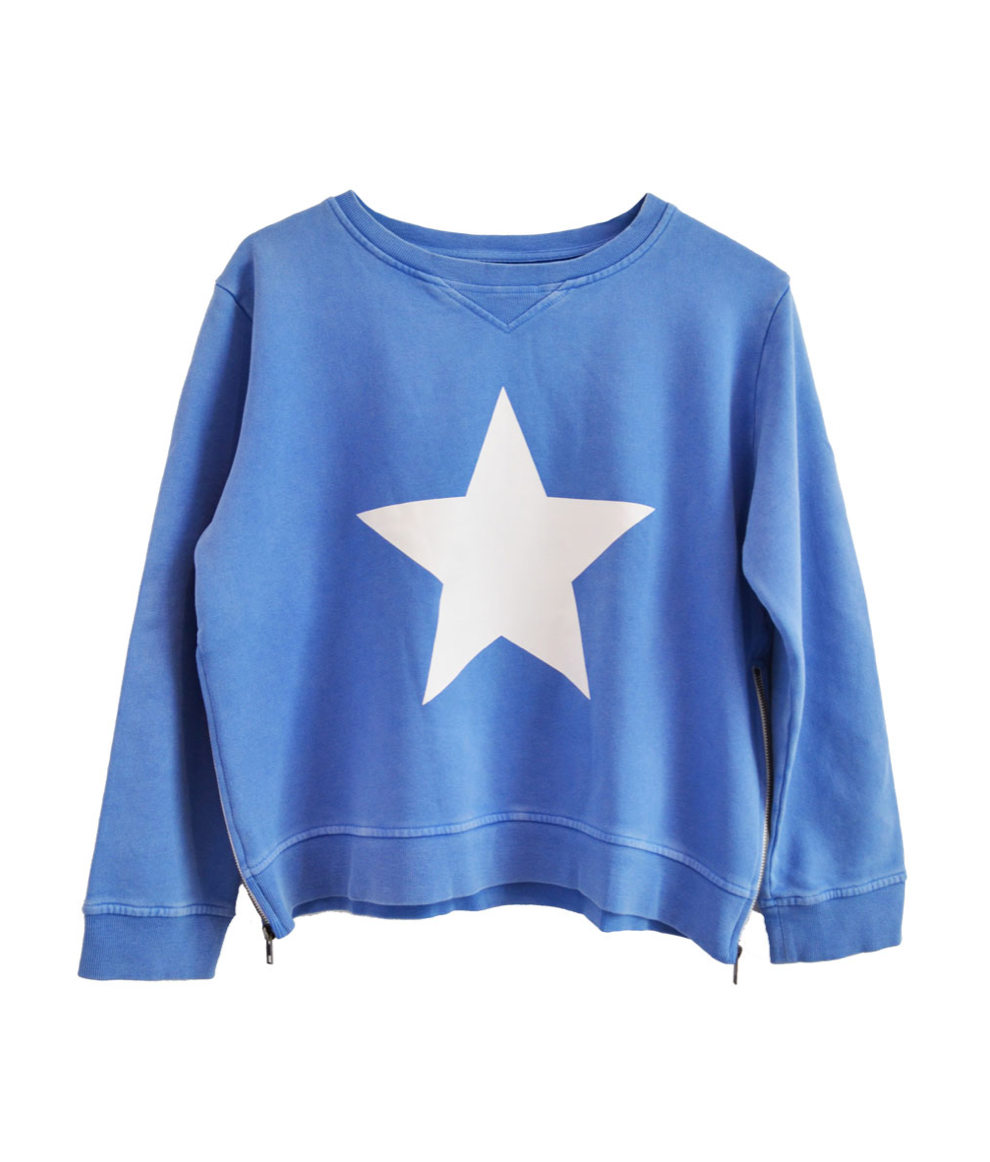 SOPHIE ZIP SWEATSHIRT BLUE STAR