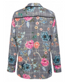 MARC AUREL CHECK FLORAL SHIRT