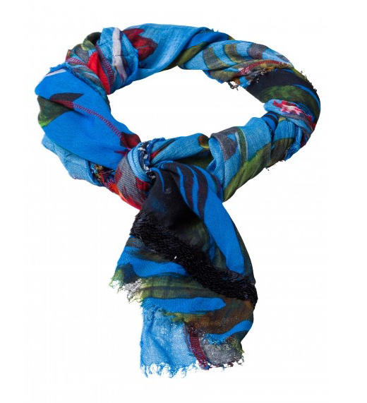 MARC AUREL PRINTED SEQUIN SCARF