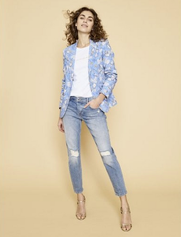 MOS MOSH MARY CHECK BLAZER - VINTAGE ROSE