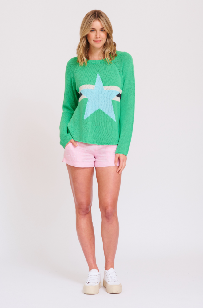 ALESSANDRA SPEARMINT WONDER WOMAN JUMPER