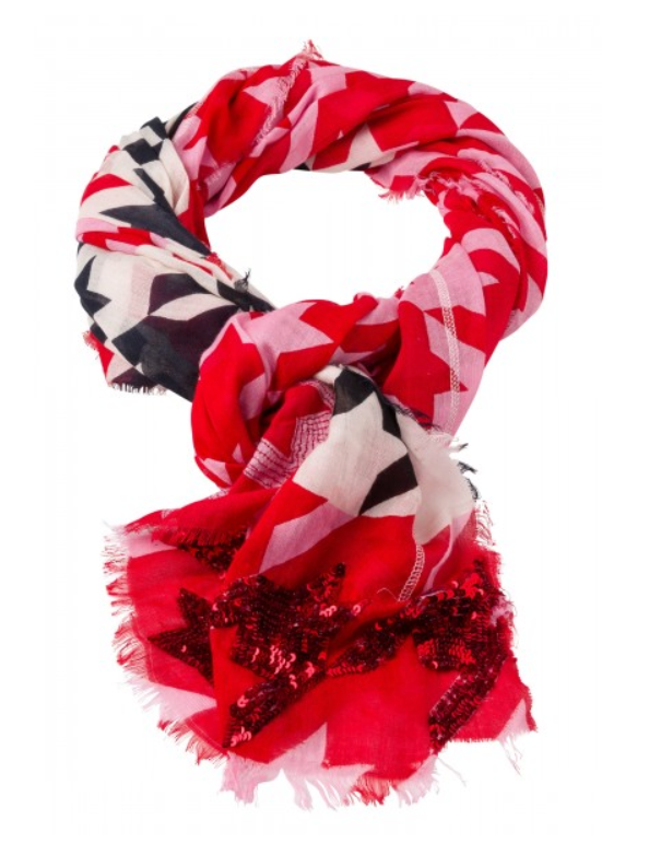 MARC AUREL SCARF RED/PINK