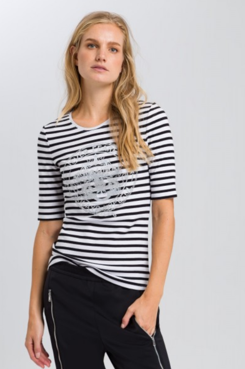 MARC AUREL BLACK/WHITE TEE