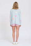 ALESSANDRA HEARTS A MESS SWEATER IN BABY BLUE