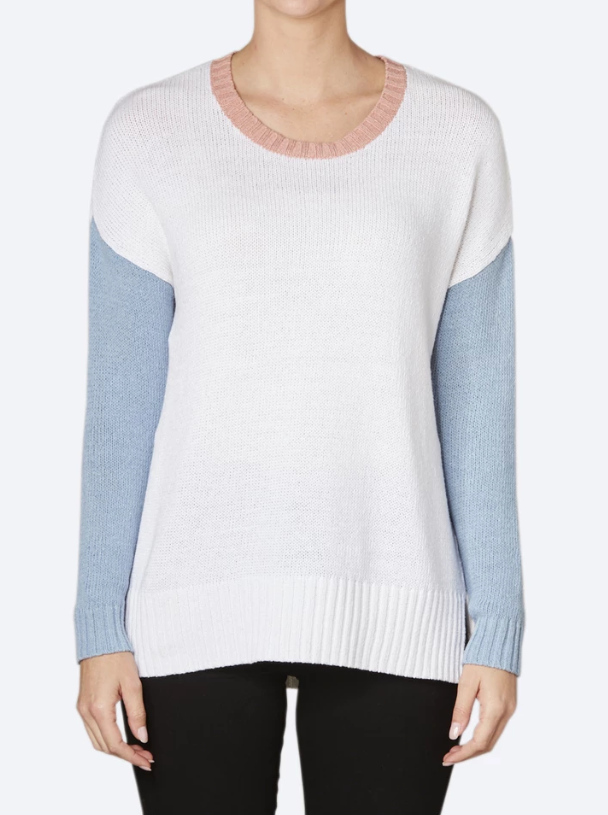 Z & P COLOUR BLOCK PULLOVER