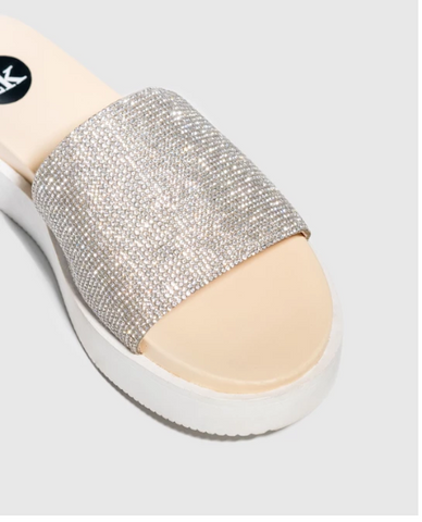 ROLLIE NATION SLINGBACK PUNCH BLUSH/SILVER