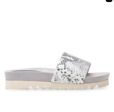 ROLLIE SANDAL SLIDE WEDGE GREY SNAKE
