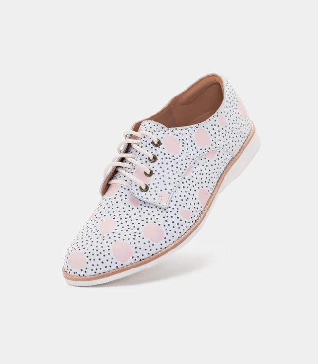 SIZE 40 ROLLIE DERBY PINK ARTISTIC DOTS
