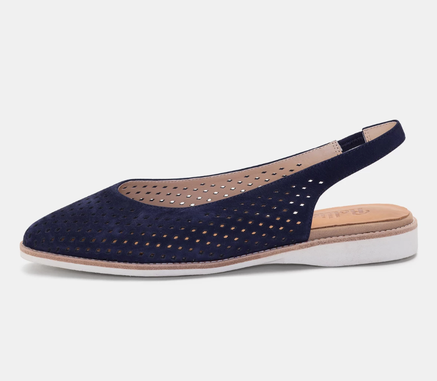 ROLLIE MADISON SLINGBACK PUNCH FRENCH NAVY