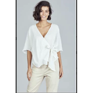 BRAVE & TRUE BERGMAN WRAP TOP