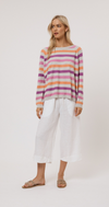 ALESSANDRA WHITNEY STRIPE SWEATER PK/OR