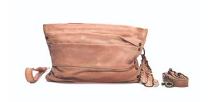 MAHSON & CO FEATHERS & HIDE CLUTCH