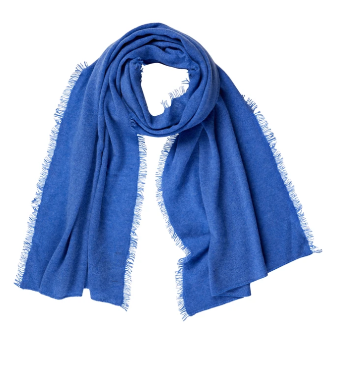CABLE PURE CASHMERE FRINGE SCARF