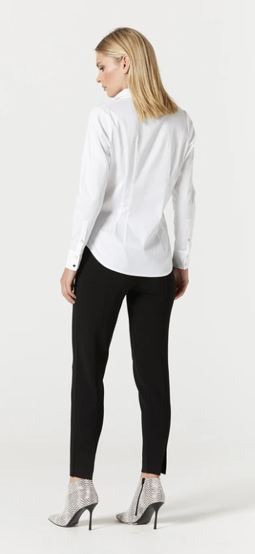 CABLE IRIS PIN TUCK SHIRT