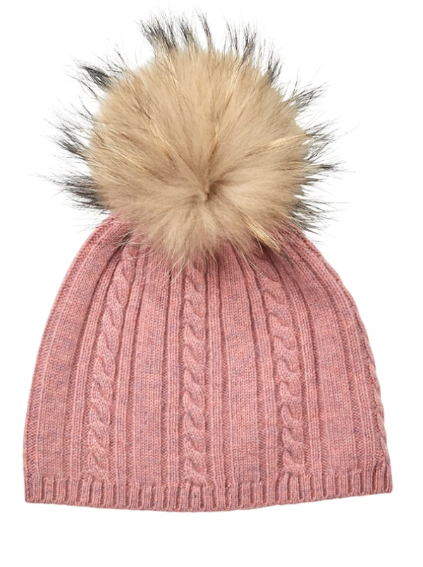 CABLE CASHMERE BEANIE