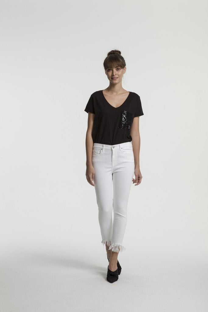LTB TANYA X FRAYED WHITE JEAN