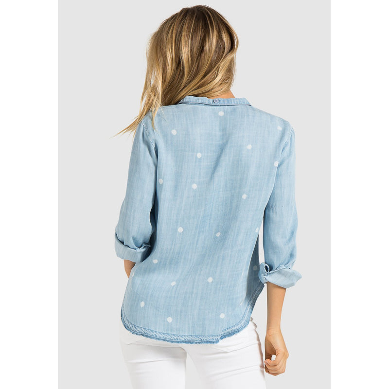 BELLA DAHL SPOT DENIM SHIRT