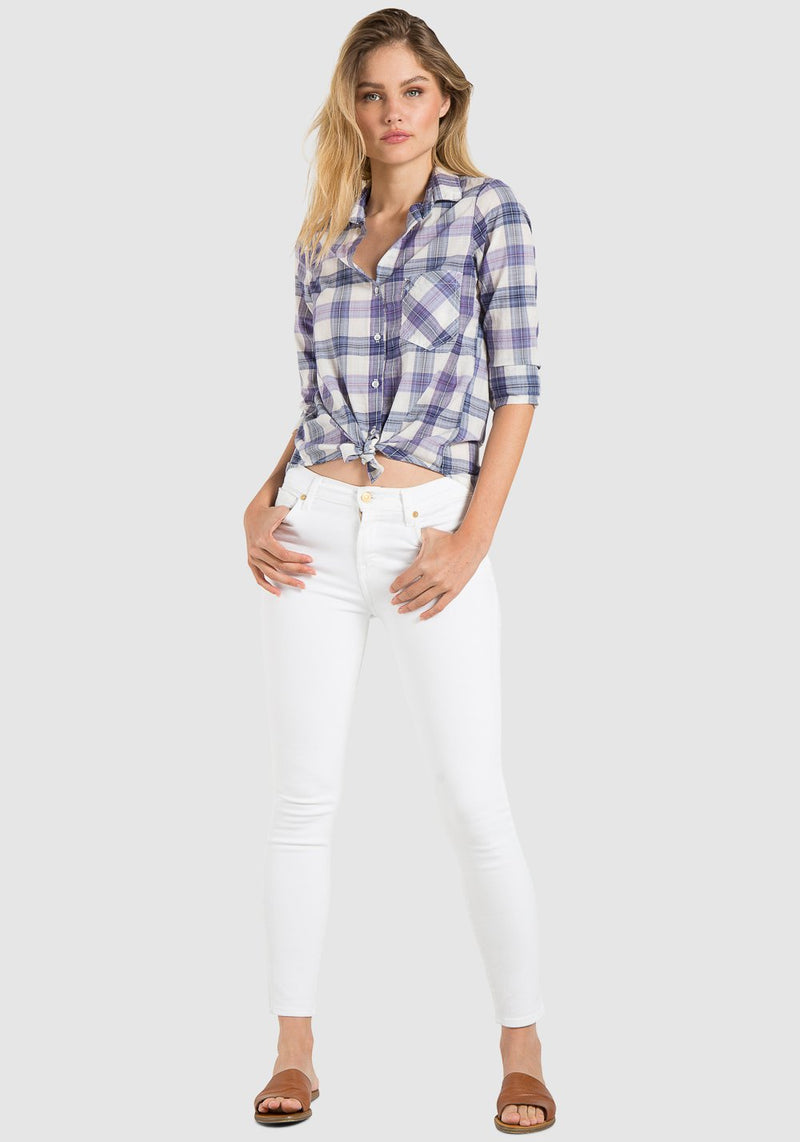 BELLA DAHL L/S SHIRT TAIL BUTTON DOWN