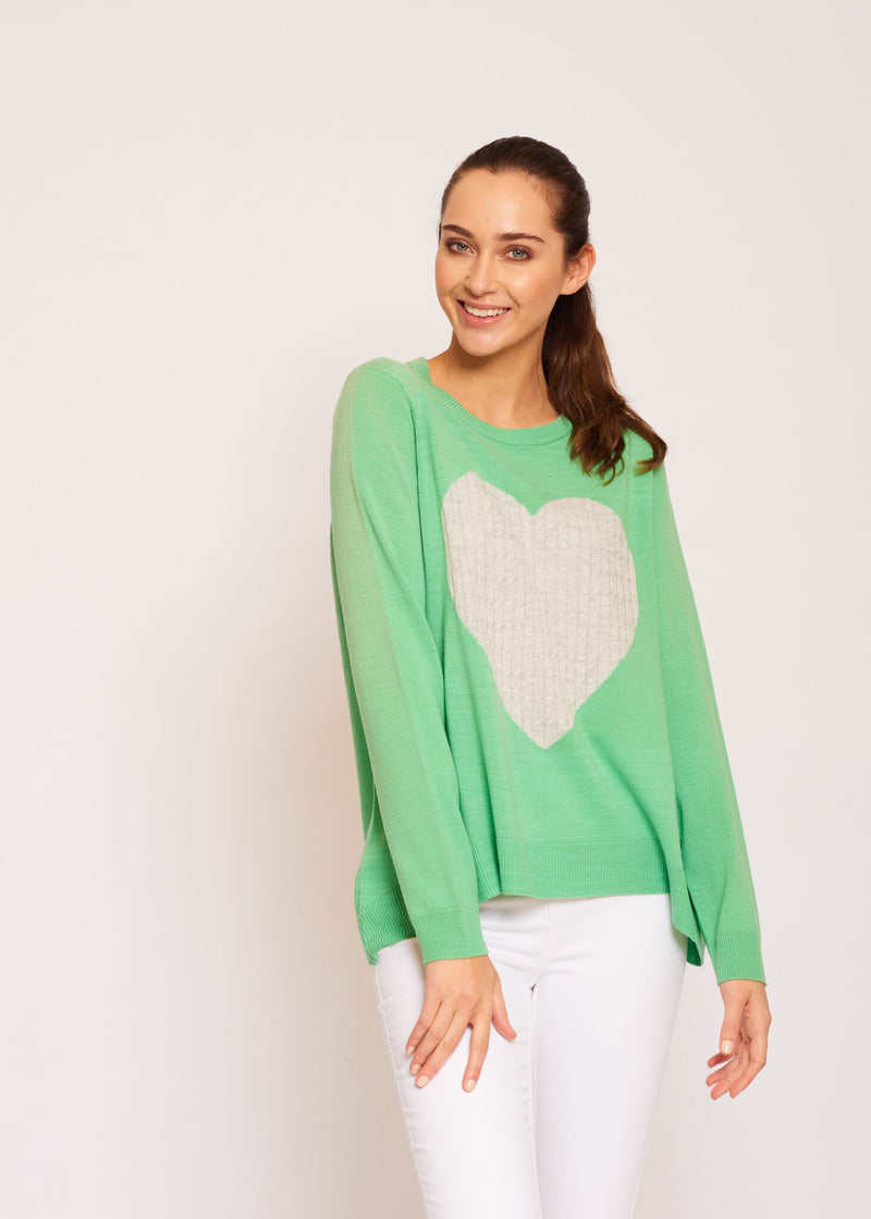 ALESSANDRA TOTAL ECLIPSE OF THE HEART SWEATER GREEN