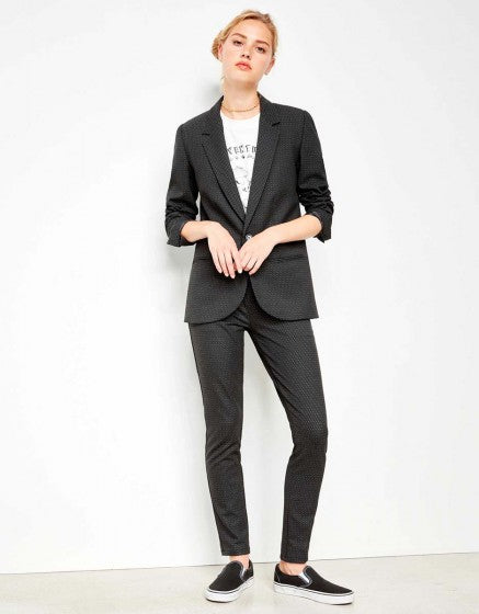 REIKO BLAIR BLACK  WHITE DOTS JACKET