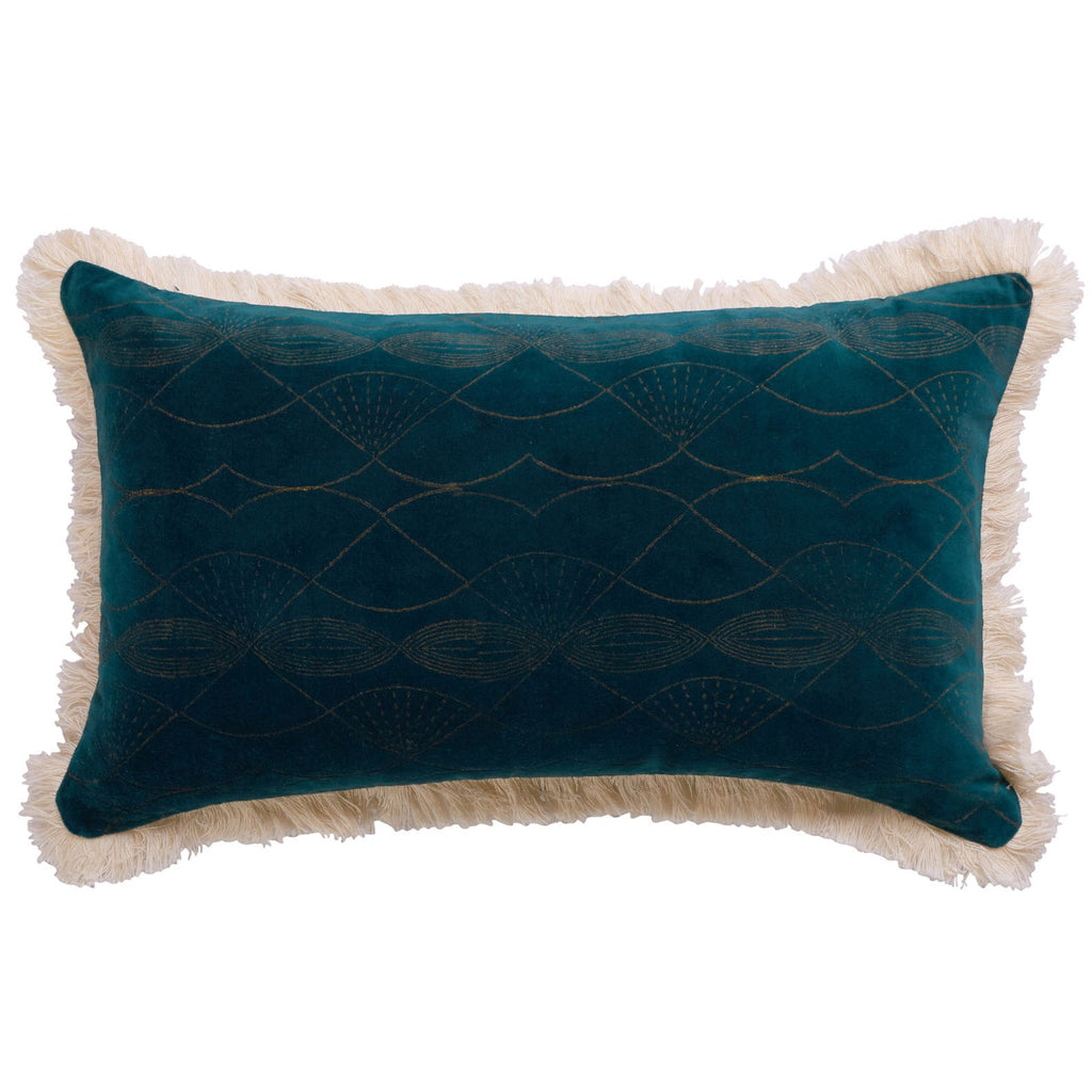 CANVAS RIVIERA SOLITAIRE CUSHION COVER